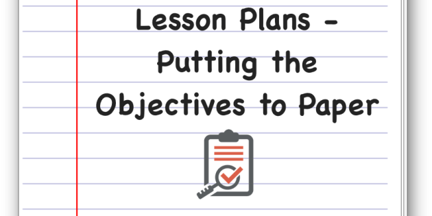 Daily Lesson Plan Daily Lesson Plan – Lesson Plan Objectives